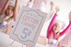 Cotton Candy Party from http://www.partypantsri.com/
