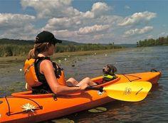 Kayaking on West River, Canandaigua Lake, NY