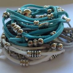 Latest trend in fashion jewellery - Wrist Wraps  Wrap around your wrist multiple times and use loose ends to tie a knot  Available in Black, White, Grey, Blue, Purple, Pink, Red, Green
