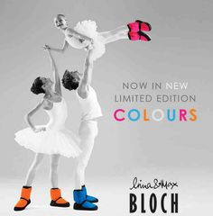 Bloch warm-up booties advert.  I love the imagery.