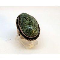 Large oval turquoise stone ring.  Size 7 (can be sized) $145