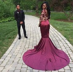 Long Sleeves Sexy Mermaid Popular Inexpensive High Quality Long Prom Dresses, PD00131