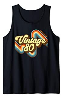 39th Birthday Vintage 80 limited edition born in 1980 funny Tank Top