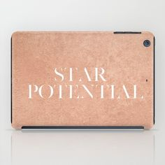 Star Potential Rose Gold iPad Case