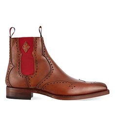 abef6762a42 JEFFERY WEST Novikov punched Chelsea boots (Tan
