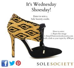 12/26/12 Enter to win! Repin this image and email Pinterest at SoleSociety dot com with a link to your repin by 4PM PST to be entered!