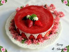 Tarta de fresas y nata (sin horno) – Strawberry and cream cheesecake
