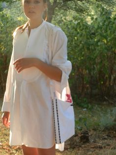 French Vintage Linen Dress Shirt  Galleries by GoshnPoche on Etsy, $60.00