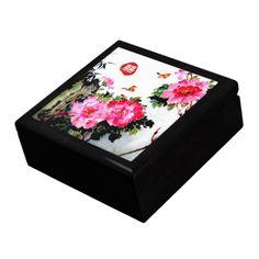 PeoniesandButterflies/Double Happiness Wedding Gift Jewelry Box