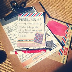 paperedthoughts: Mailtag #3. lovely letters, snail mail, decorated letter, paper goods, stationery, envelope, pen pal content ideas