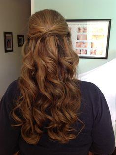 Soft curls, Half up half down