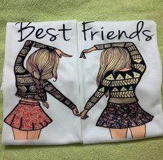Coppia t-shirt best friends . La puoi acquistare su www.candyshop.it  #bestfriends #bestfriend #bff