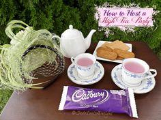 How to Host a High Tea Party with #CadburyHighTea party supplies #ad
