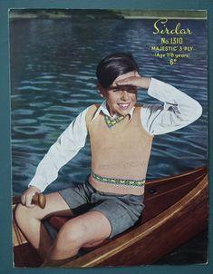 Knitting Patterns Boys, School Boy, Vintage Knitting, Vintage Patterns, Underarm, 1940s, Vintage Dresses, Knit Crochet, Outfit