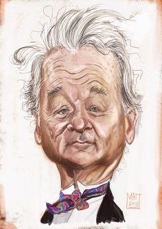 Bill Murray (Caricature) (BM) http://dunway.us