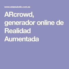 ARcrowd, generador online de Realidad Aumentada