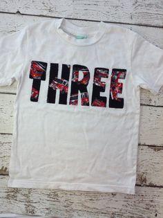 New lil threadz design posted! Firetruck Firetruck shirt firetruck party size 4T shirt ready to ship boy's tshirt boy's clothing birthday shirt third birthday tee by lilthreadzclothing