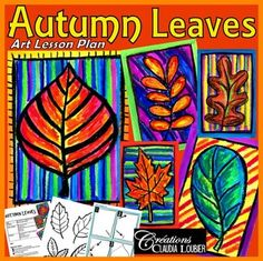 Autumn Art Activity and Lesson Plan for Kids:. by Art with Creations Claudia Loubier Art Videos For Kids, Art Lessons For Kids, Art For Kids, Kid Art, Craft Videos, Fall Art Projects, Projects For Kids, Class Projects, Diy Projects