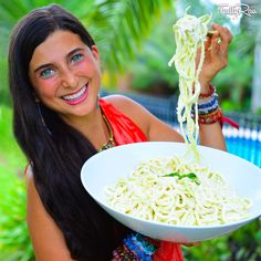 Raw Vegan Fettuccine Alfredo! The latest and greatest is here! Try my FullyRaw twist on this classic recipe! It's creamy, satisfying, SO delicious, and perfect to share! Recipe here: https://youtu.be/ci5WV06Bc90