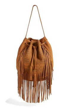 ❤️All'❤️❤️Free shipping and returns on Steve Madden Fringed Shoulder Bag at Nordstrom.com. Sweeping fringe and a Southwestern-inspired print lend cowgirl-chic flair to a supple suede shoulder bag that doubles as a backpack.