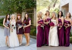 Time for our latest rundown of gorgeous looks for your bridesmaids, and today we've come over all autumney with a line-up of berry and jewel toned dresses in the prettiest shades of purple, l… Jewel Tone Bridesmaid, Fall Wedding Bridesmaids, Bridesmaid Dresses Under 100, Wedding Girl, Bridesmaids And Groomsmen, Wedding Dresses, Dusty Blue, Purple Lilac, Berry Wedding