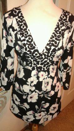 White House Black Market Signature Knits ladies Multi-color Tunic Blouse SZ M #WhiteHouseBlackMarket #Blouse #Career