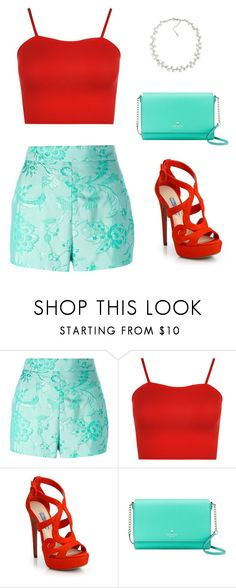 """Summer Clothes"" by pareesa-shaibani ❤ liked on Polyvore featuring Moschino, WearAll, Prada, Kate Spade and Carolee"