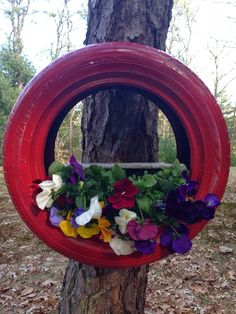 OUR CRAFTY MOM: Old Tire Turned Planter
