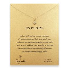 Dogeared Reminders Gold Compass Necklace | sundancebeach.com