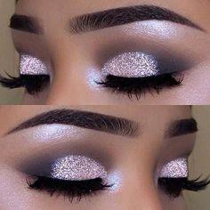 Make Up - Pretty Glittery NYE Makeup 2018 Makeup Tutorials for Black Women . - Make Up - Wedding Makeup Tips, Eye Makeup Tips, Makeup Ideas, Makeup Hacks, Eyeshadow Makeup, Makeup Jokes, Makeup Case, Men Makeup, Makeup Geek