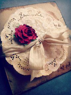 Red Rose Vintage Wedding Invitation. $4.00, via Etsy.