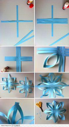 3D vločky z papiera | kreativita.info