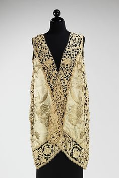 Callot Soeurs Evening Vest - c. 1910 - Attributed to Callot Soeurs (French, active 1895-1937) - Silk, linen, metal - @~ Mlle
