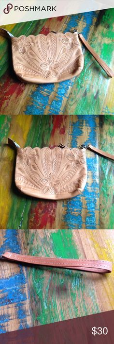 JL Saldivar bag Cute clutch leather 8x6 perfect in all ways great boho statement layer with other bags! JL salvidar Bags Clutches & Wristlets