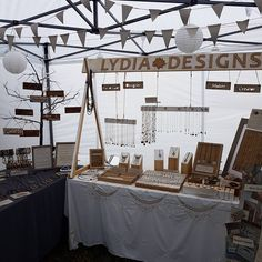 Great signage on this craft fair display by Lydia Designs