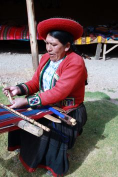 The art of the wooden loom. Picture taken in Chinchero, Peru on our vacation. My website features beautiful hand-loomed scarves and throws @sungatealpaca.com