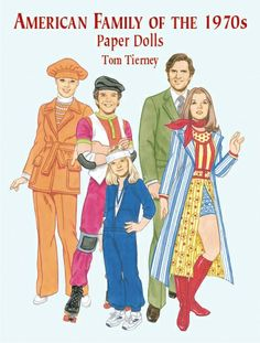 American Family of the 70s - paper dolls