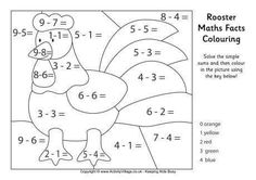 What would a farmyard be without a rooster to wake everyone up in the morning? We've got a collection of rooster colouring pages for the kids to enjoy - more coming soon. Subtraction Kindergarten, Kindergarten Worksheets, Language Activities, Math Activities, Chinese New Year Activities, Math Pages, Color By Numbers, Facts For Kids, Basic Math