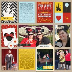 project life disney layouts | disney digital project life page created by melissa featuring project ...