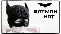 Batman Hat Crochet - Keep your little caped crusader warm this winter with this free crochet pattern