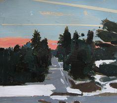 Landscape Paintings ... Harry Stooshinoff: Evening Vapor Trails ...