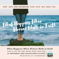 "Faith is a small word with a big meaning. What does your faith mean to you? Join our FREE Online Bible Study of Lysa's book, ""What Happens When Women Walk in Faith"" today! http://proverbs31.org/online-bible-studies/"