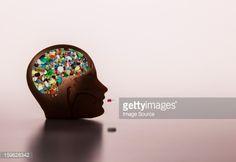 Foto de stock : Pills in model head