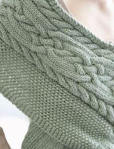 Patterns texturé Châle tricot | Dans la boucle de tricotage