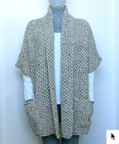 Beginner Knitting Patterns, Knitting Designs, Crochet Cardigan Pattern, Knit Crochet, Crochet Clothes, Diy Clothes, Crotchet Patterns, Knitted Cape, Cardigans For Women