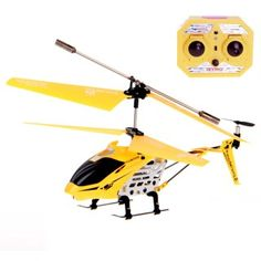 Model King 33008 3.5 Channel Alloy RC Helicopter w/ Gyro Yellow