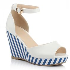 $18.39 Striped wedges.