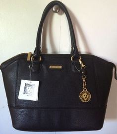 NWT-ANNE-KLEIN-Black-Trinity-Womans-Purse-Handbag