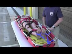 This video shows how to package a patient into a standard stokes basket using two different methods. The first method utilizes tubular webbing and the second. Firefighter Training, Firefighter Paramedic, Emr Training, Wilderness First Responder, Emergency Medical Responder, Air New Zealand, Ice Climbing, Search And Rescue, Firefighting