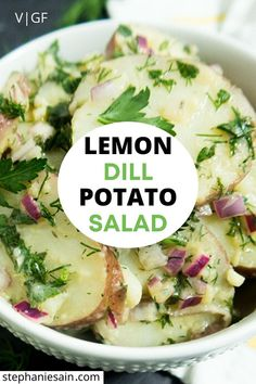 Grilling Recipes, Cooking Recipes, Cooking Tips, Dill Potatoes, Vegan Potato Salads, Vegetarian Recipes, Healthy Recipes, Healthy Foods, Soup Appetizers